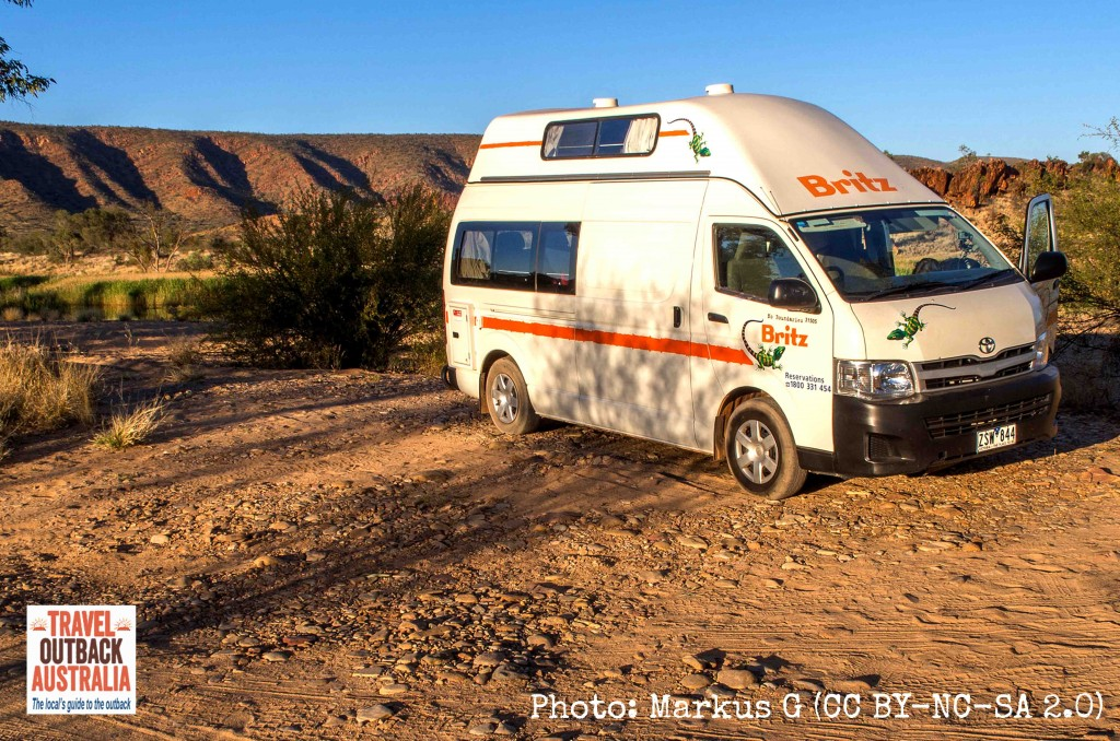 Campervan rental, Alice Springs, Glen Helen
