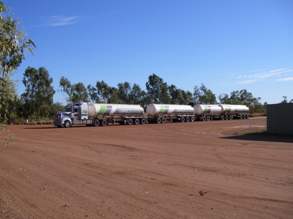 Yes, this is a REAL outback road train