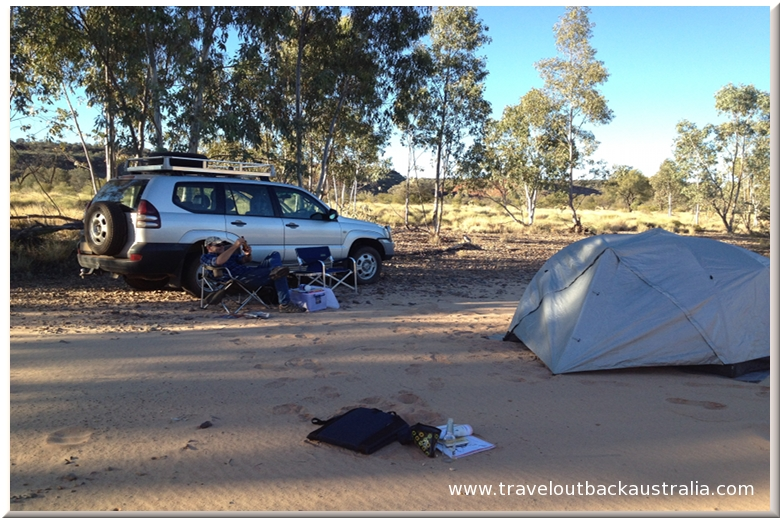 Owen Springs, camping, outback Australia