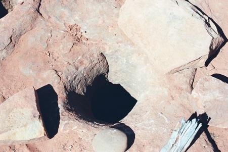 Aboriginal stone wells on Owen Springs Reserve