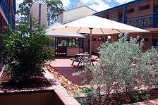 The garden area at the Aurora, Alice Springs