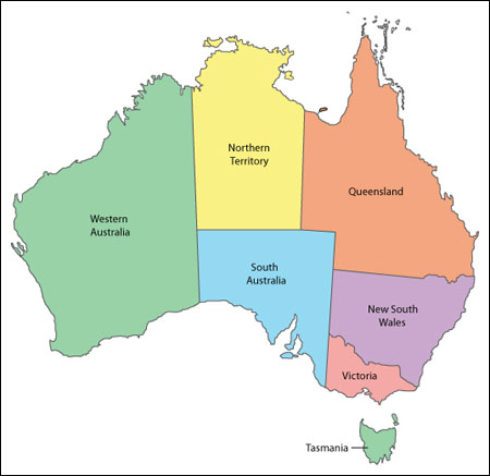 Map Of Australia Facts.Australia Facts