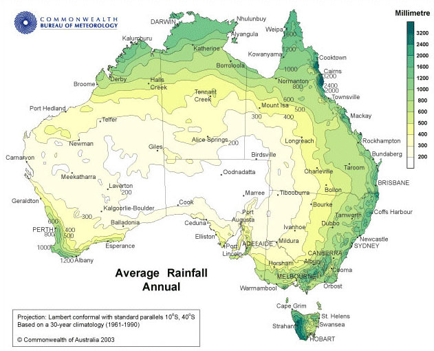 Outback climate, outback weather, outback rainfall