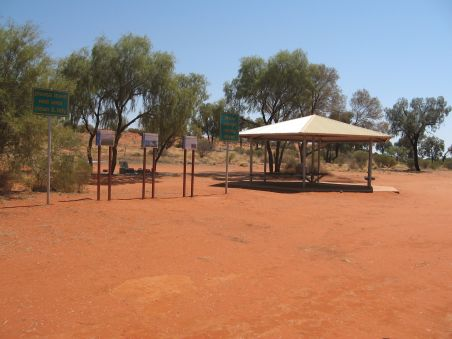 Driving from Alice Springs to Ayers Rock, Desert Oaks Rest Area