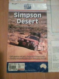 Outback maps, Hema Simpson Desert