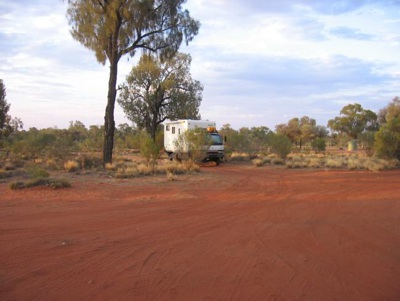 Driving from Alice Springs to Ayers Rock, Lasseter Highway Roadside Camps