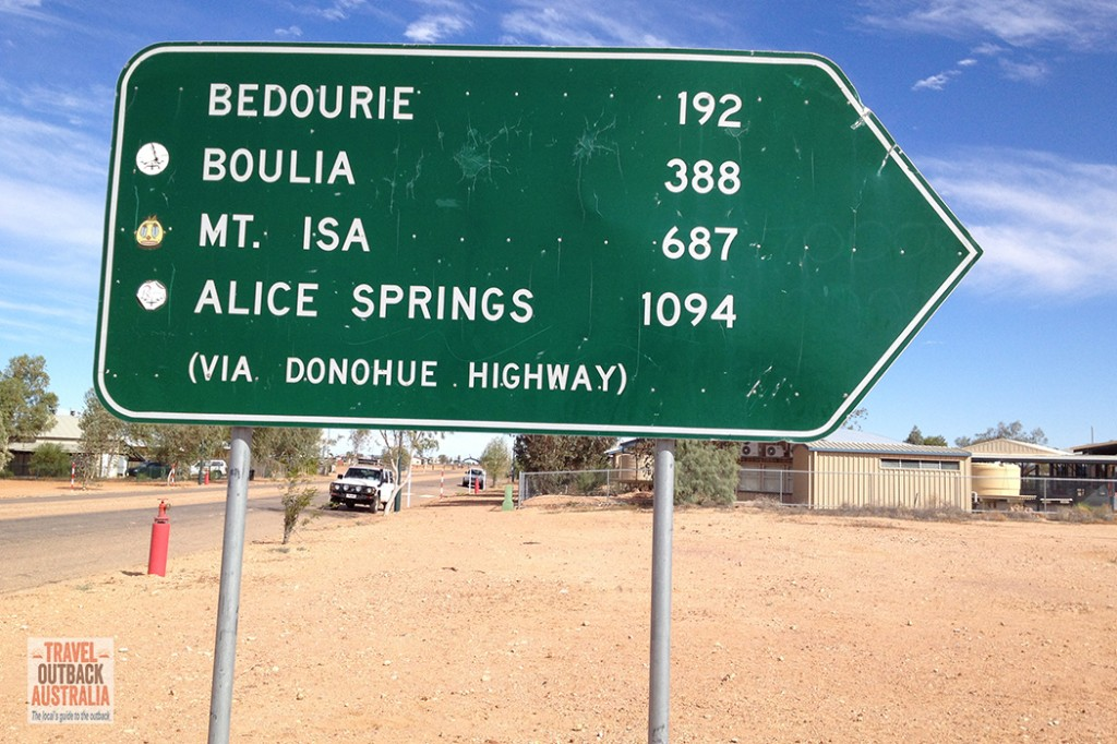 mileage sign, outback australia