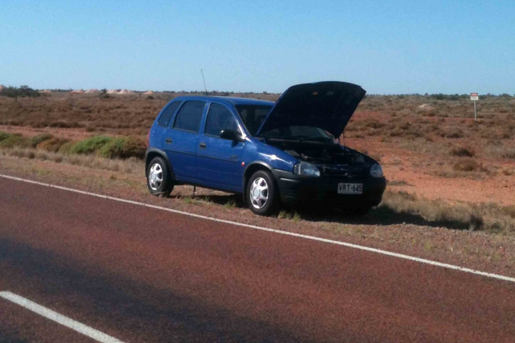 breaking down in the outback, outback Australia