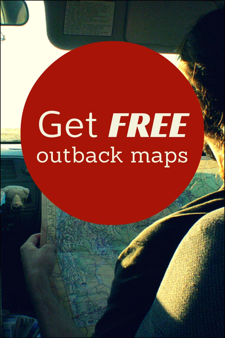 Australia 250k Map.How To Get Free Outback Maps