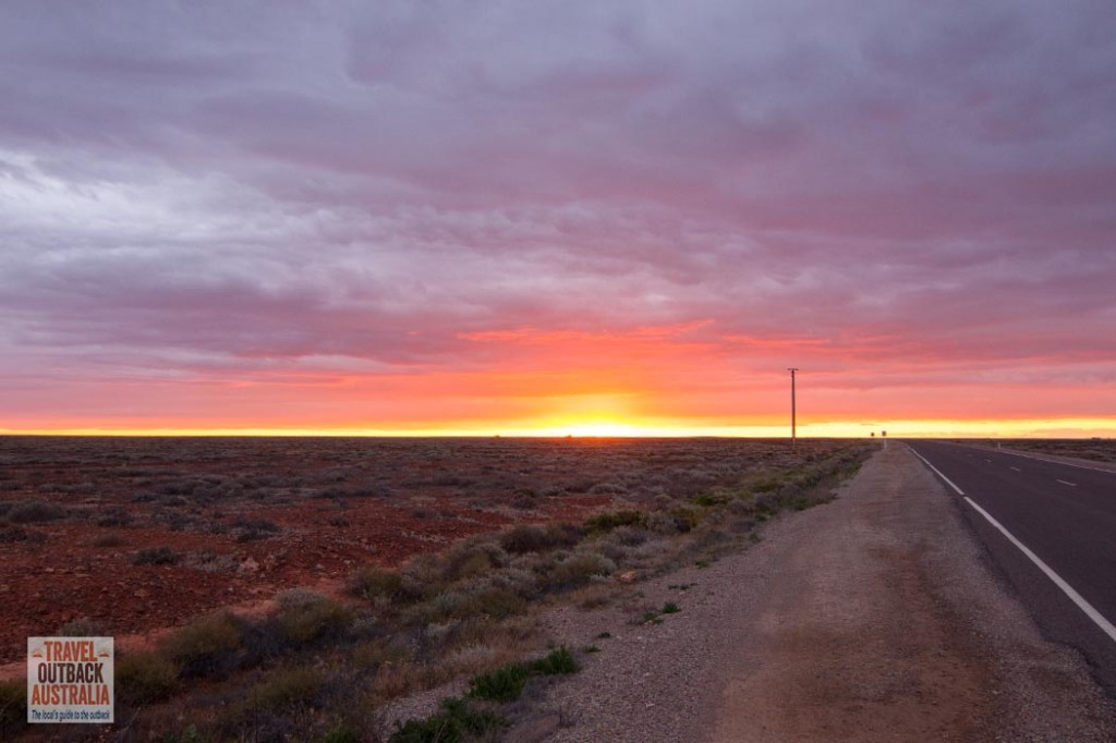 Pimba, South Australia, sunset