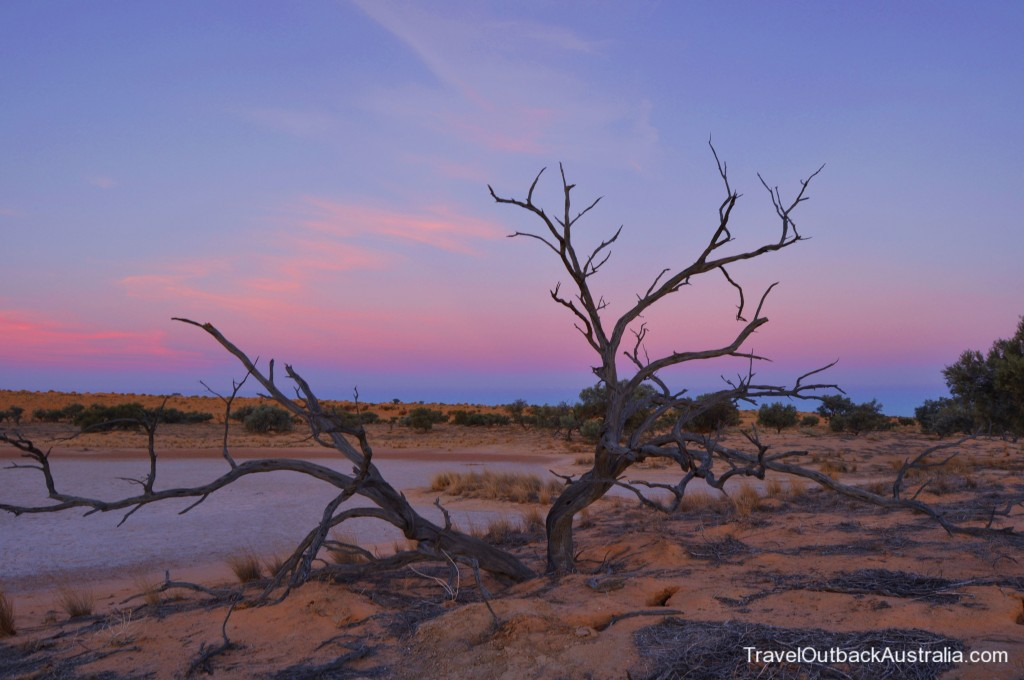 Simpson Desert Sunset Queensland side