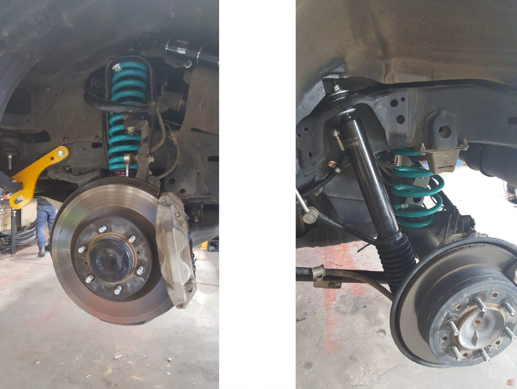 Front and rear springs